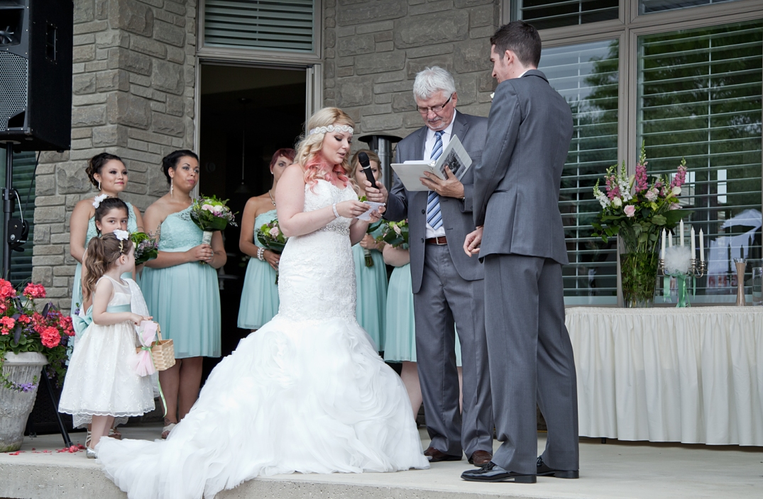 Bride saying her personal vows