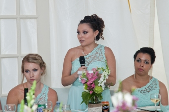 Bridesmaid Katelyn saying speech