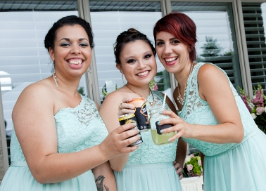 Bridesmaids - Ashley, Katelyn and Nathalie