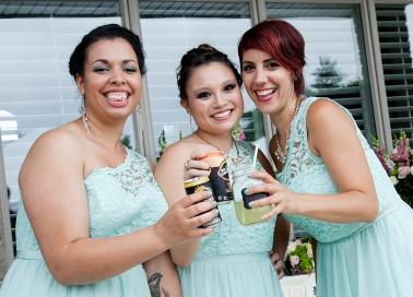 Bridesmaids - Ashley, Katelyn and Nathalie