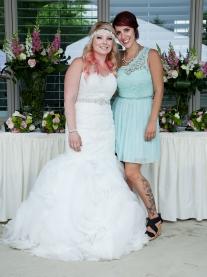 Bride and Bridesmaid Nathalie