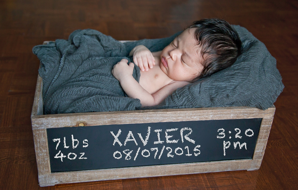 Baby Xavier, Newborn photography,